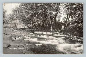 Belvidere NJ-New Jersey, Pequest Creek, Vintage Postcard