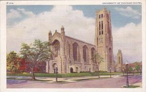 Illinois Chicago University Of Chicago Chapel 1937