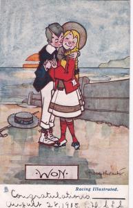 TUCK; Sports Comic Racing Illustrated, WON , PU-1915