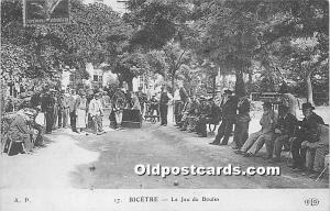 Old Vintage Lawn Bowling Postcard Post Card Bicetre, Le Jeu de Boules 1987