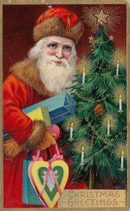 CHRISTMAS ; Red Suite Santa Claus , 1910
