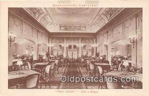 Paul Lecat, Salle A Manger Messageries Maritimes Ship Postcard Post Card Mess...