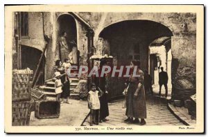 Old Postcard Menton An Old Street