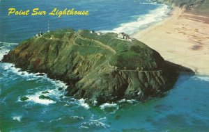 Postcard Aerial View Point Sur Lighthouse California
