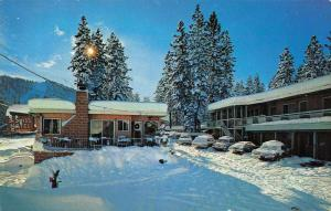 South Lake Tahoe California 3 Swiss Motel Vintage Postcard JA454456
