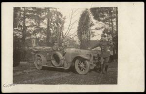 Germany Empire Automobile Car WWI  RPPC 65350