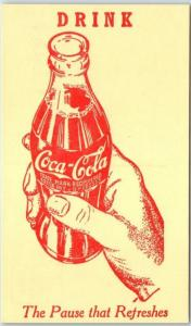 Vintage COCA-COLA Coke Advertising Postcard The Pause That Refreshes Unused