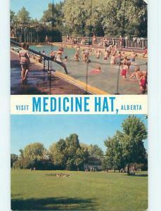 Unused Pre-1980 TOWN VIEW SCENE Medicine Hat Alberta AB p9206