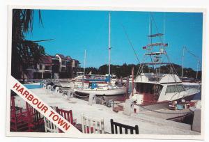 SC Hilton Head Harbour Town Sea Pines Plantation Boats Harbor Vtg Postcard 4X6