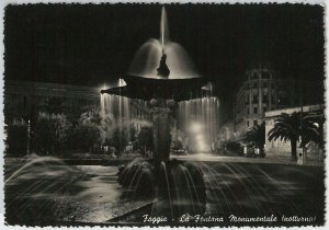 49729   CARTOLINA d'Epoca - FOGGIA citta' : Fontana Monumentale 1953