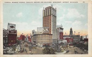 Detroit Michigan~Campus~Monroe Avenue~Cadillac Square~Soldiers Monument~Fisk~'20