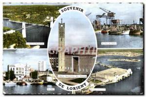 Old Postcard Souvenir De Lorient
