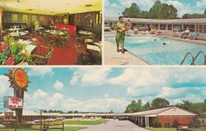 LAKEWOOD, New York, 1940-60s; 3-Views, Lakewood Motel, Swimming Pool, Classic...