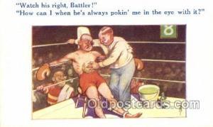 Boxer, Boxing Old Vintage Antique Postcard Post Cards
