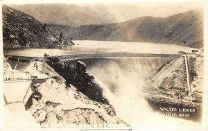 RPPC ARROW ROCK DAM Boise, Idaho Walter Lubken Photo 1918 Vintage Postcard