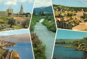 Jerusalem Mount Zion Nazareth Tiberias Lake of Galilee River Jordan Postcard
