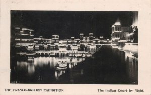 Postcard exhibitions Franco-British Exhibition Indian court by night