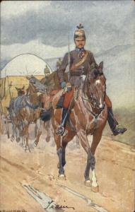 Hungary? Military - Horse Wagon Train Ludwickoia c1905 Postcard gfz