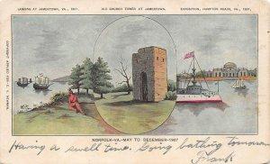 LPS82 Norfolk Virginia Jamestown Landing Church Tower Exposition Views Postcard