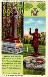Pennsylvania Gettysburg Battlefield New York Irish Brigade and Father Corby M...