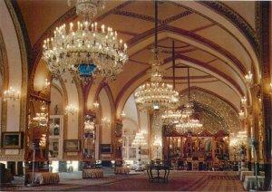 Tehran Iran Kakh-Golestan Saloon postcard candelabra interior