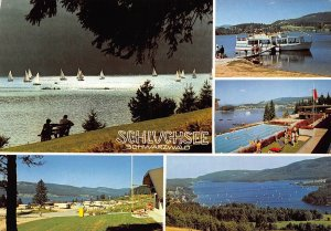 Scluchsee Schwarzwald Lake Boats Hotel Swimming Pool Postcard