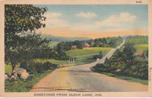 Indiana Greetings From Clear Lake 1941 Curteich