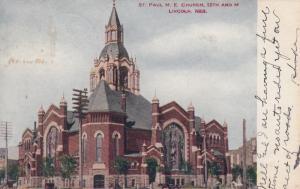 LINCOLN, Nebraska, PU-1908; St. Pauls M.E. Church, 12th and M