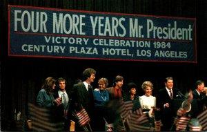 President Ronald Reagan Victory Celebration 1984 Century Plaza Hotel Los Angeles