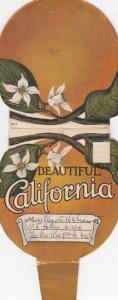 Beautiful CALIFORNIA , 00-10s Orange Shaped Folder