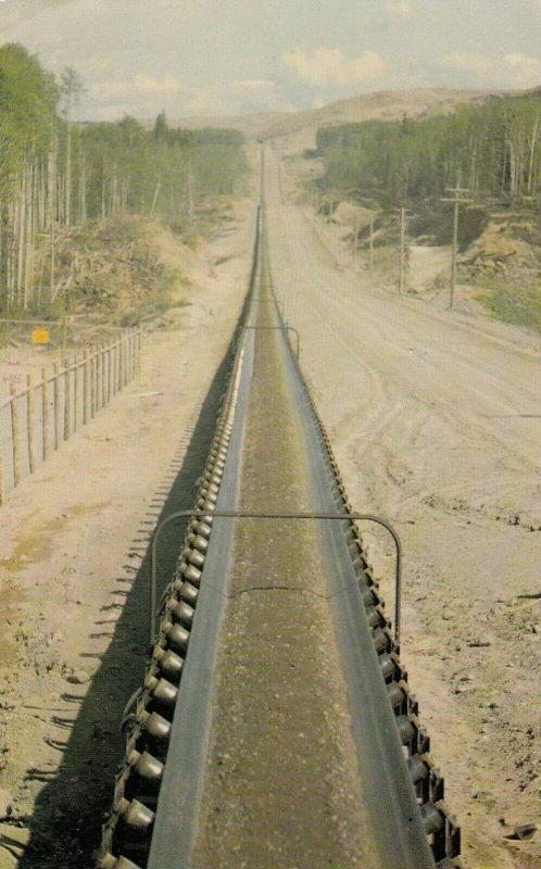 PORTAGE MT , B.C., 40-60s; Mainline conveyor for dam construction