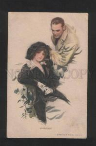 3071403 LOVERS Undecided by Harrison FISHER vintage #389 PC