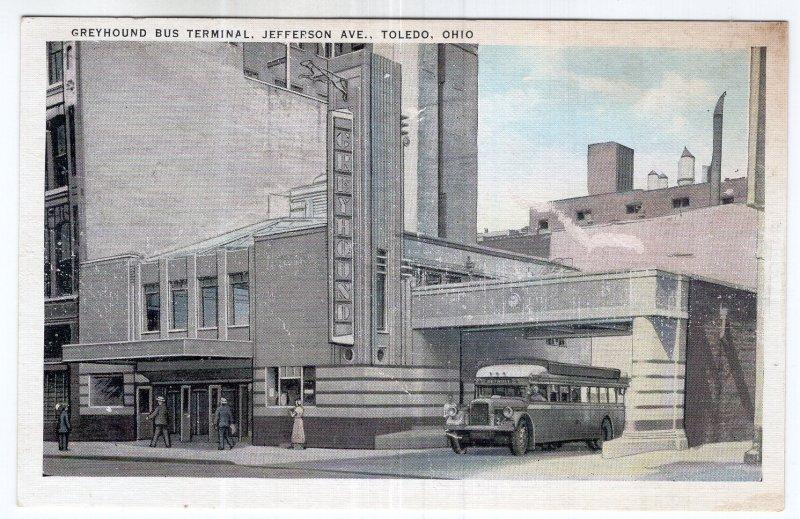 Toledo, Ohio, Greyhound Bus Terminal, Jefferson Ave.