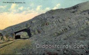 Coal stripping, Hazleton, PA, Pennsylvania, USA Mine, Mining, 1911 postal use...