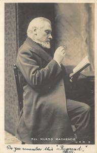 Edinburgh Scotland Rev. Murdo MacKenzie Real Photo Postcard