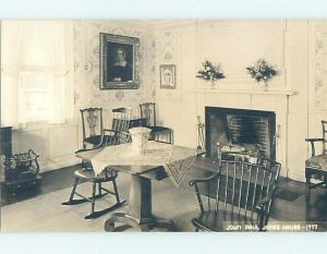 Pre-1950 rppc JOHN PAUL JONES HOUSE INTERIOR Portsmouth New Hampshire NH HM3611