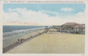 North Carolina  Carolina Beach Showing Boardwalk Casino And Bathing Beach On ...