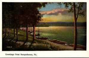 Pennsylvania Greetings From Susquehanna