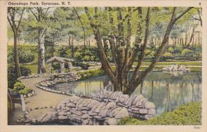 New York Syracuse Scene In Onondaga Park 1940