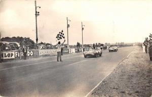 Frances Les Mans Circuit Race Finish Line Real Photo Vintage Postcard JC932113