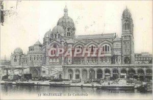 Postcard Old Marseille La Cathedrale