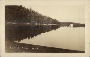 Angle Pond NH  East Hampstead Cancel 1944 Real Photo Postcard