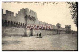 Old Postcard Avignon Commences Remparts under the Pontificate of Clement VI