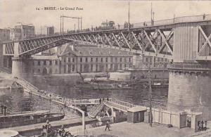 Bridge, Le Grand Pont, Brest (Finistere), France, 1900-1910s