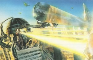 Fantastic Four Galactus vs The Silver Surfer Marvel Comic Book Postcard