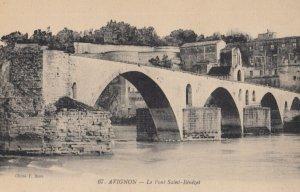 AVIGNON , France ,1900-1910s , Le Pont St-Benezeth Version-2
