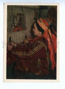 200836 Turkmenistan carpet weaving deserved Gildeeva