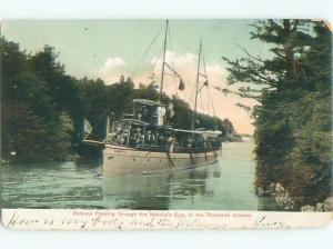 Pre-chrome BOAT SCENE Thousand Islands New York NY AF5124