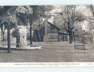 Pre-1980 STONE LAKE LOG CABIN Cassopolis - Near Dowagiac & Niles MI ho9740