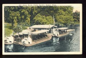 Boston, Massachusetts/Mass/MA Postcard, Swan Boats In Public Garden, 1923!